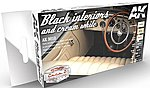 Cars & Civil Vehicles Series- Black & Cream White Interiors Acrylic Paint Set (6 Colors) 17ml Bottles