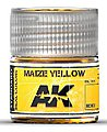 Real Colors- Maize Yellow Acrylic Lacquer Paint 10ml Bottle