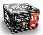 Real Colors- WWII US Army Basic Acrylic Lacquer Paint Set (4) 10ml Bottles