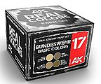 Real Colors- Bundeswehr Acrylic Lacquer Paint Set (4) 10ml Bottles