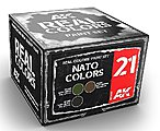 Real Colors- NATO Colors Acrylic Lacquer Paint Set (3) 10ml Bottles