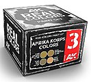 Real Colors- Afrika Korps Acrylic Lacquer Paint Set (4) 10ml Bottles