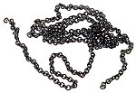 Preblackened Brass Chain - 12'' - 27 Links Per Inch -- HO Scale Model Railroad Accessory -- #29220
