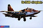 Sukhoi Su25UB Aircraft -- Plastic Model Airplane Kit -- 1/72 Scale -- #7212