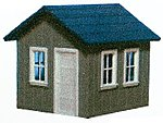 Small Yard Office - Kit -- HO Scale Model Railroad Trackside Accessory -- #127