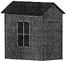 Equipment Shed - 1 x 1 x 2'' 2.5 x 2.5 x 5cm -- O Scale Model Railroad Building -- #902
