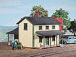 Two-Story Section House Kit -- HO Scale Model Railroad Building -- #128
