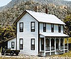 2-Story Farm House Kit -- HO Scale Model Railroad Building -- #140