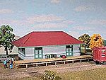 Big Four Freight House Kit -- HO Scale Model Railroad Building -- #152