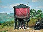 50,000 Gal. Wooden Water Tank Kit -- HO Scale Model Railroad Building -- #154