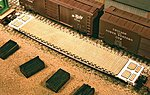 Wood Deck Set for Tangent GSC 60' Flatcar Kit -- HO Scale Model Train Freight Car Part -- #200