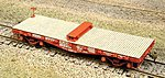 Flat Car Bolsters 1 Pair (Laser-Cut Wood Kit) -- HO Scale Model Train Freight Car Load -- #207