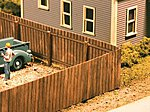 Wood Privacy Fence Kit - 120 Scale Feet Total -- HO Scale Model Railroad Building Accessory -- #334