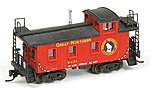 Great Northern 25' Wood Cupola Caboose - Kit -- N Scale Model Train Freight Car -- #550