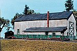 Single Stall Engine House Kit -- N Scale Model Railroad Building -- #608