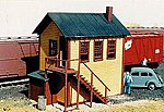 Yard Office Kit -- N Scale Model Railroad Building -- #609