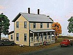 Two-Story Farmhouse w/Porch Kit -- N Scale Model Railroad House -- #640