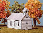 Crossroads Church Kit -- N Scale Model Railroad Building -- #691