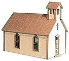 Crossroads Church Kit -- HO Scale Model Railroad Building -- #791
