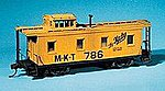 Caboose - Kit (Laser-cut Wood) - Katy -- HO Scale Model Train Freight Car -- #850