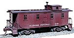 Wood Caboose Kit Illinois Central w/Side Door -- HO Scale Model Train Freight Car -- #852