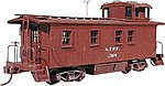 Wood Caboose - Kit Atchison, Topeka & Santa Fe -- HO Scale Model Train Freight Car -- #865