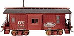 Wood Caboose - Kit Illinois Terminal w/Bay Window -- HO Scale Model Train Freight Car -- #870
