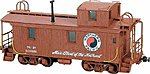 Wood Caboose - Kit Northern Pacific 1200 Series -- HO Scale Model Train Freight Car -- #871