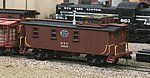 New York Central 19000 Series Wood Caboose Kit -- HO Scale Model Train Freight Car -- #879