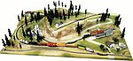 Rocky Ridge Extension for High Sierra Layout Painted -- N Scale Model Railroad Scenery -- #1015