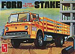 Ford C600 Tilt Cab Stake Bed Truck -- Plastic Model Truck Kit -- 1/25 Scale -- #650