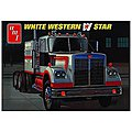 White Western Star Semi Tractor -- Plastic Model Truck Kit -- 1/25 Scale -- #724