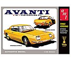1963 Studebaker Avanti -- Plastic Model Car Kit -- 1/25 Scale -- #780