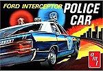 1970 FORD POLICE CAR -- Plastic Model Police Car Kit -- 1/25 Scale -- #788