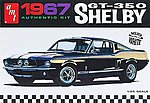 1967 Shelby GT350 Car (White) -- Plastic Model Car Kit -- 1/25 Scale -- #800