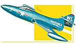 Grumman F9F Panther Fighter Jet -- Plastic Model Airplane Kit -- 1/48 Scale -- #813