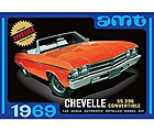 1969 CHEVELLE CONVERTIBLE -- Plastic Model Car Truck Vehicle Kit -- 1/25 Scale -- #823