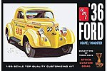 1936 FORD COUPE -- Plastic Model Car Truck Vehicle Kit -- 1/25 Scale -- #824