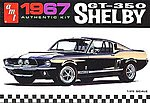 1967 Shelby GT350 Car (Black) -- Plastic Model Car Truck Vehicle Kit -- 1/25 Scale -- #834