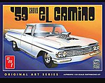 1959 Chevy El Camino Original Art Series -- Plastic Model Car Kit -- 1/25 Scale -- #1058