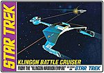 Star Trek Klingon Battle Cruiser Std Ed. -- Plastic Model Spaceship Kit -- 1/650 Scale -- #720