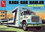 Ford LN 8000 Race Car Hauler -- Plastic Model Truck Kit -- 1/25 Scale -- #758_06
