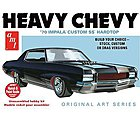 1970 Chevy Impala Heavy Chevy Original Art -- Plastic Model Car Kit -- 1/25 Scale -- #895