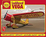 Shell Oil Lockheed Vega -- Plastic Model Airplane -- 1/48 Scale -- #950-12