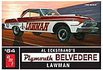 1964 Plymouth Belvedere Lawman Super Stk -- Plastic Model Car Kit -- 1/25 Scale -- #986-12