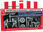 Double Dirt Bike Motorcycle Parts Pack -- Plastic Model Vehicle Accessory -- 1/25 Scale -- #pp14