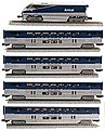 F59PHI & 4 Bilevel Amtrak Surfliner -- Z Scale Model Train Passenger Car -- #7002