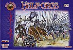 Half Orcs Set #4 (44) -- Plastic Model Fantasy Figure -- 1/72 Scale -- #72022