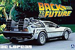DeLorean From Back to the Future I -- Plastic Model Car -- 1/24 Scale -- #011850