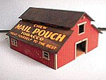 Old Town Mail Pouch Tobacco Barn Kit -- HO Scale Model Railroad Building -- #87
